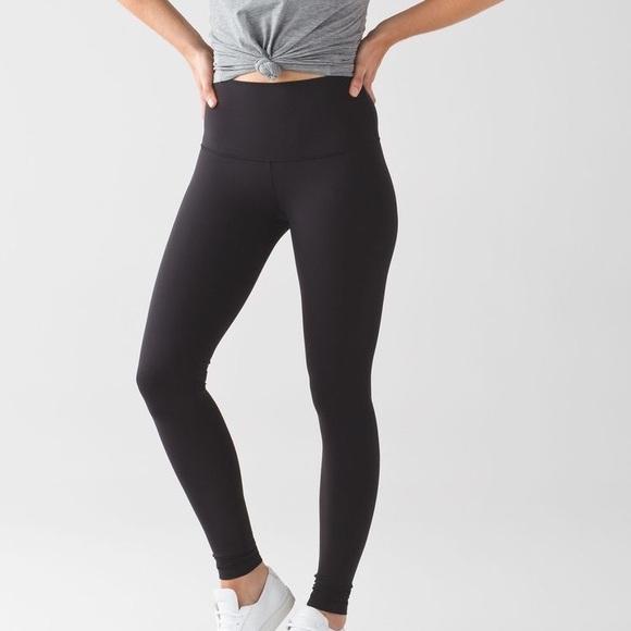 5a2d2b069 lululemon athletica Pants - Lululemon Wunder Under low rise Black leggings 6